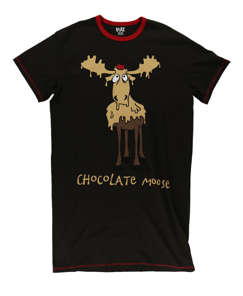 Chocolate Moose -  Women's Nightshirt - One Size Fits Most - Lazy One®